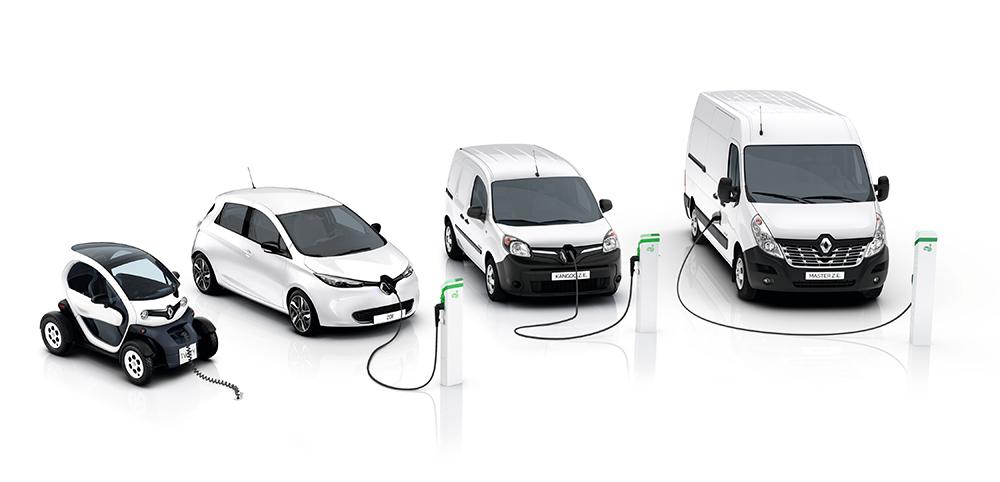 Die E-Baureihen von Renault; Foto: Renault