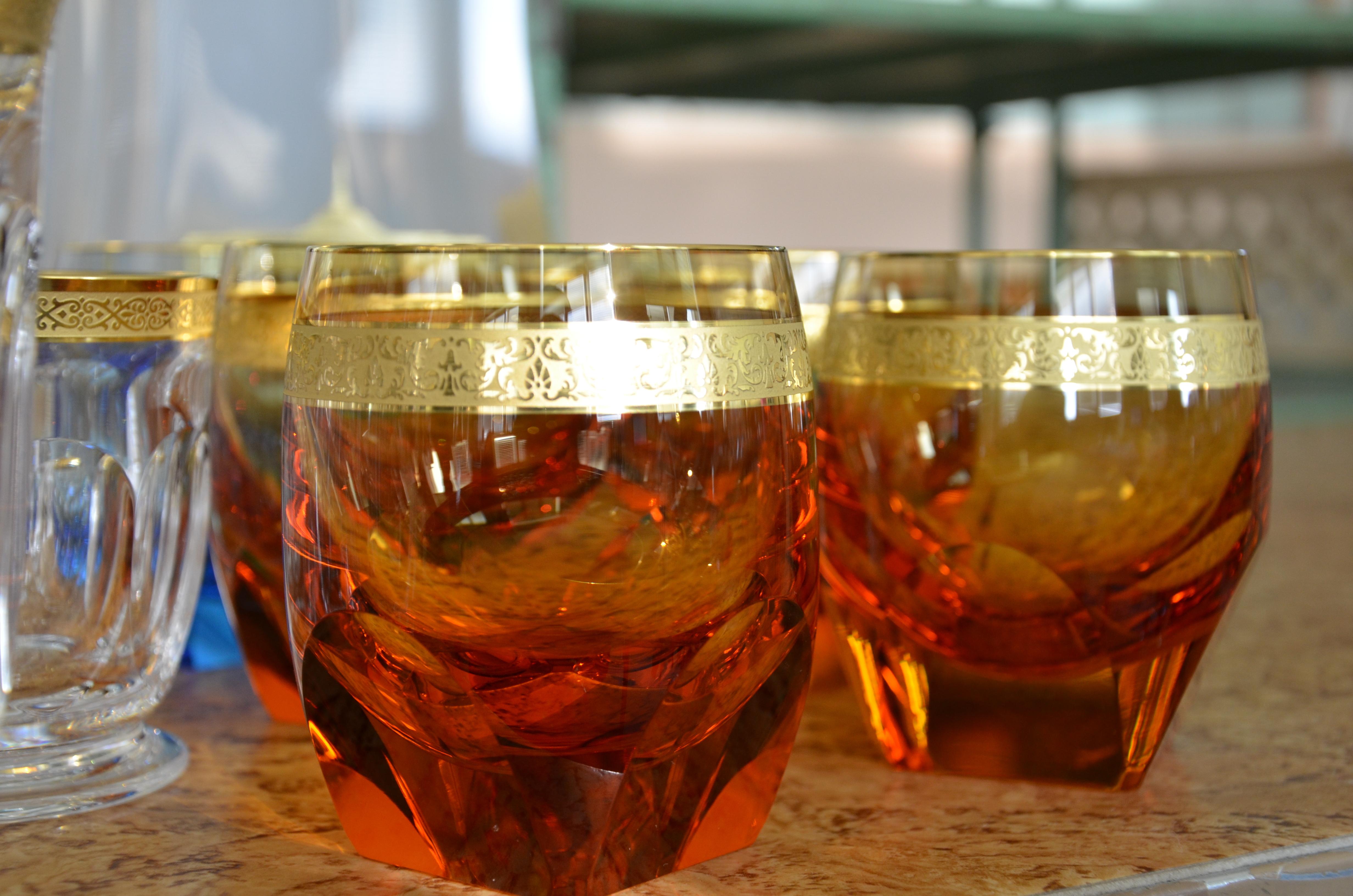 4 boehmisches glas juergen ulbrich