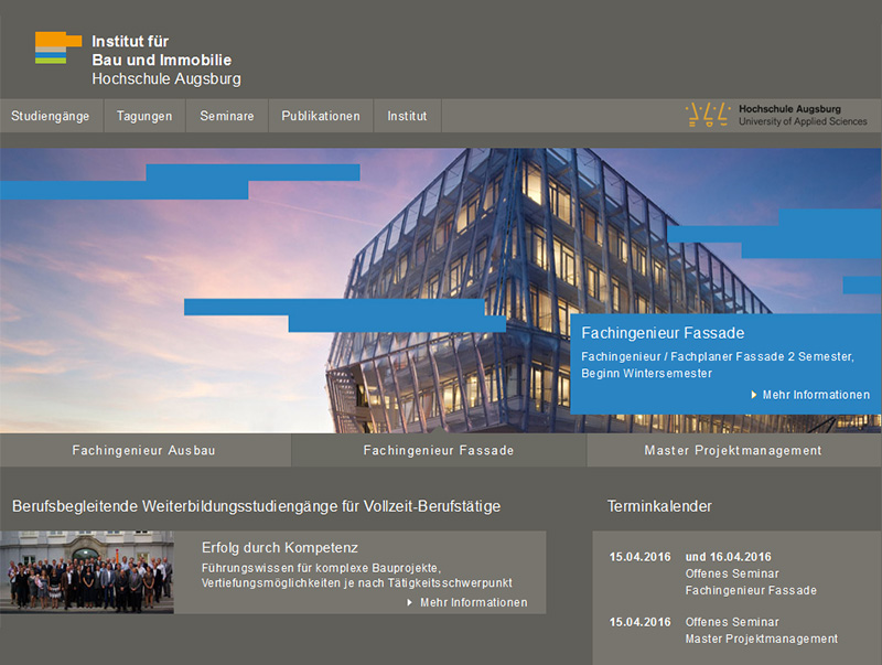 screenshot hochschule augsburg